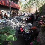 Moody's Pub beer garden.